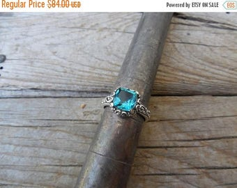 ON SALE London Blue topaz ring handmade in sterling silver 925