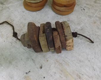 Antique Vintage Cork  Floats Buoy Fishing Bouy Lot of  7