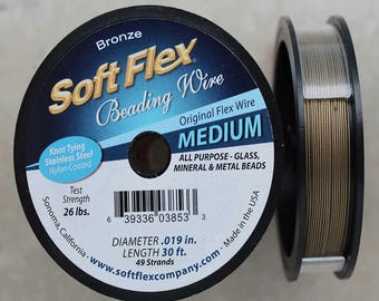 Soft Flex Bronze Medium Wire, 30 Foot Spool