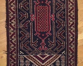 28 x 53 Beluch Vintage Prayer Rug