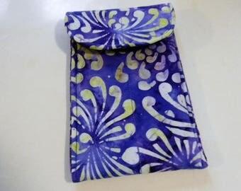 Purple Batik Sunglasses Case