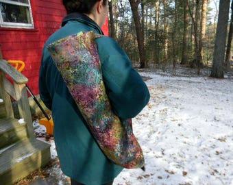 Multi Color Floral Batik Yoga Mat Bag
