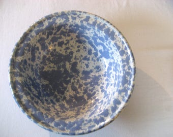 vintage Morning Glory blue Bennington Pottery bowl