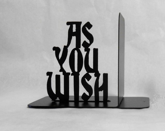 As You Wish, Single Left Metal Art Bookend, Castle, Movies, Books, The Princess Bride, Organizer