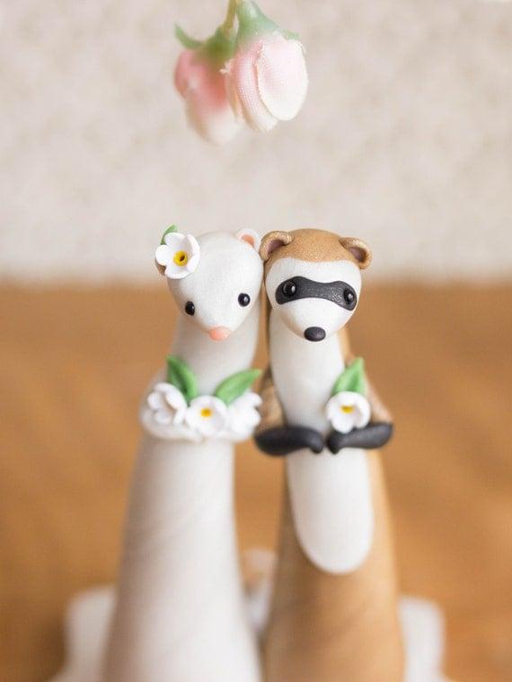 Ferret Wedding Cake Topper by Bonjour Poupette