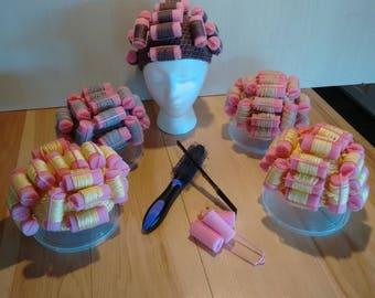 Crochet Baby Curler Hat,Beautician's Baby Photo Prop hat, Newborn Sponge Curler Hat, Cruler Costume Hat, Crochet Baby Hat, Hair Roller Hat