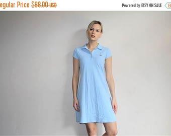 On SALE 35% Off - 90s  Vintage Polo Jeans by Ralph Lauren Blue Pastel Tennis Shirt Dress - 1990s Ralph Lauren - 90s Clothing - WV0252