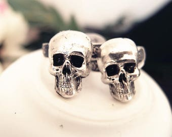Golgotha-- skull Ring-adjustable-steampunk-Victorian-edgy chic VS036