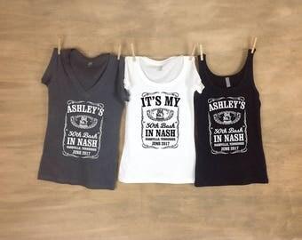 Whiskey Birthday Bash Shirt // 30th Birthday // Single or Set