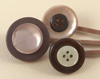 Brown bobby pins, hair pins, hair grips, kirby grips, bobbie pins