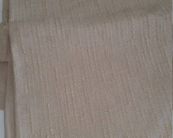Beige Upholstery Fabric, Nubby Fabric, Fabric Remnant