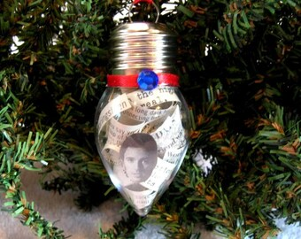 Bruce Springsteen Christmas Ornament - Album Liner Notes In Plastic Bulb