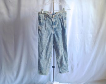 Vintage 80's Pee Wee™ Herman Jeans Official Brand Acid-Washed Overalls Kids' Size Medium