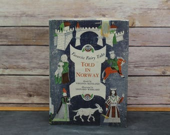 1961 Favorite Fairy Tales Told in Norway, First Edition, Hardcover Book