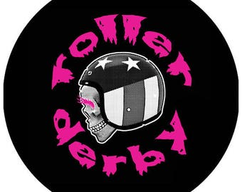 PIN BUTTON for roller derby girls