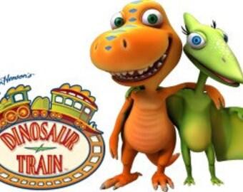 Dinosaur Train Birthday Party Cupcake Toppers Picks - 36