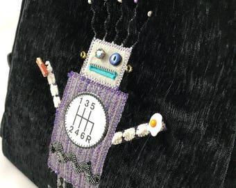 Robot Purse Crossbody Bag