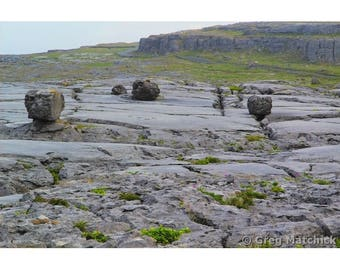 Fine Art Color Landscape Photography of Boulders on the Burren in County Clare Ireland