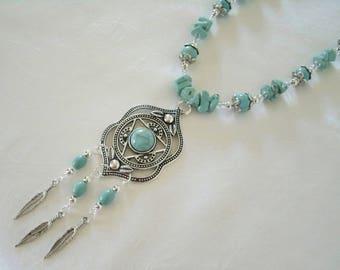 Turquoise Necklace, southwestern jewelry southwest jewelry native american jewelry style country western bohemian necklace boho necklace