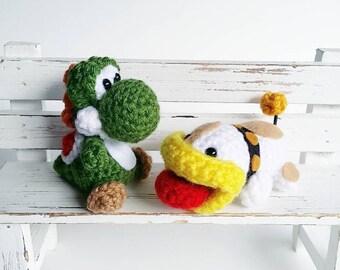 Yoshi and Poochy Amigurumi