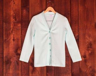Vintage Cardigan / Vintage Navajo Print Sweater / Small