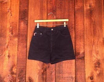 Vintage High Waisted Navy Blue Jean Shorts • Denim Shorts