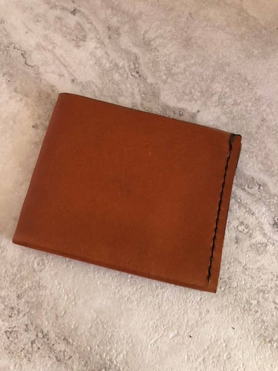 Handmade Tan Lasaro Modern Leather Wallet