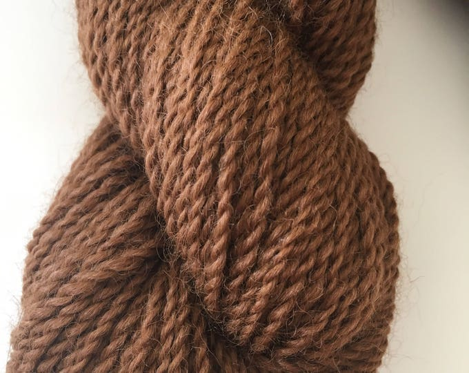 100 % Maine Natural Brown Alpaca Light Worsted Yarn