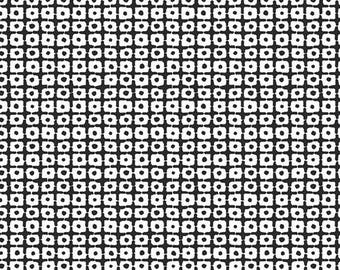 Art Gallery Pandalicious - Panda Patches Black Cotton Fabric (Quilting/Dressmaking)