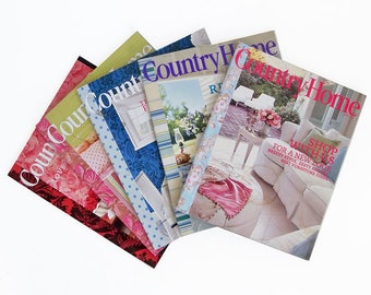 Bundle of Country Home Magazine 2005 Back Issues - 5 Issues with Decorating & Cooking Ideas