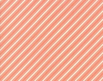 Fig Tree Fabric - Ella and Ollie Fabric Yardage - Moda Quilt Fabric - Apricot - Stripe Fabric By The 1/2 Yard -