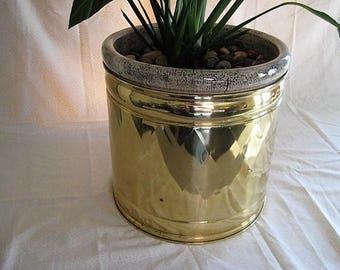 Large Vintage BRASS Planter VINTAGE Brass Planter Pot LARGE Brass Pot