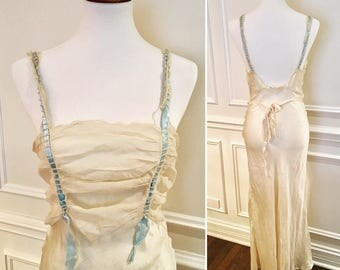 Antique Silk Nightgown