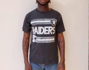 90s Los Angeles Raiders Football Tee Shirt