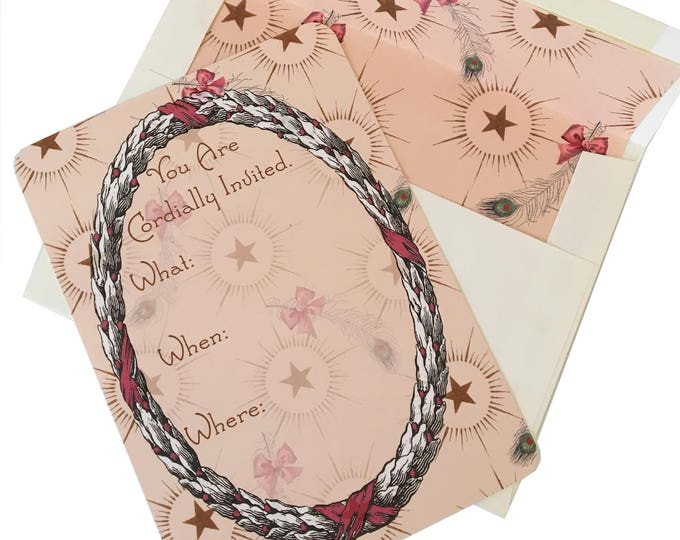 Christmas no longer available! Don't miss the Spring Collection coming soon! Christmas Fairy Printed Invitations Pink
