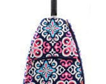 colorful Geometric design Tennis bag tote Backpack style Personalized for FREE