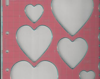 Fiskars HEARTS Shape Template 4855 use with ShapeXpress Valentines's Day NEW