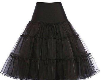 25% Off Sale Knee Length 50s Petticoat Retro Vintage Style Crinoline Underskirt Tutu Skirt Rockabilly Pinup