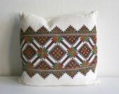 Ukrainian Cross Stitch Pillow