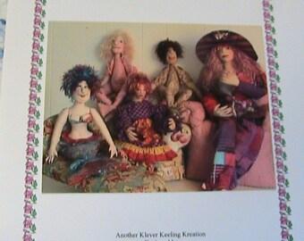 KnITTING DoLL HaIR on Knitting Loom~Barb Keeling~Rare~art doll hair instructions