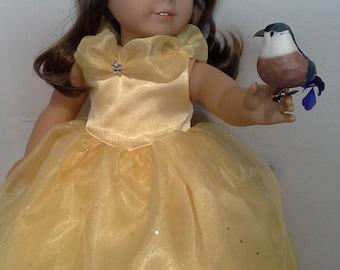 Princess Belle Dress-American Girl Doll-18 Inch Doll