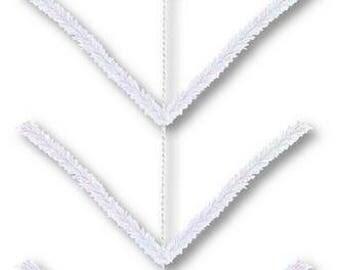 "Iridescent White Pencil Work Garland XX752550, Deco Mesh, 12"" Wide x 9' Long"