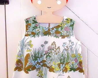 OH so pretty floral 60s 70s  Vintage fabric dress for Child Toddler