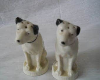 RCA Victor Dog Salt and Pepper Shakers - vintage, collectible, RCA, Lenox