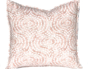 Throw Pillow Covers - Blush Pink Pillow Covers - Throw Pillow Covers - Ogee - Pink Cushion Cover - Blush Bedroom Decor - Sofa Pillow Covers