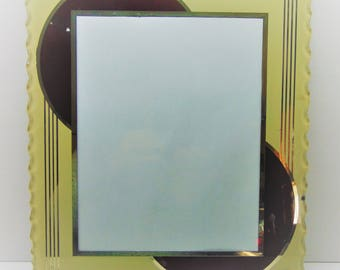Art Deco Glass Picture Frame