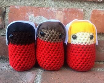 Crochet Handmaid's Tale doll
