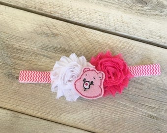 Last One Care Bear Inspired Headband Infant Fits 3-6 Months Baby Girl