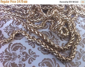 On SALE Vintage Style 5MM Woven high quality chain chain 5mm sturdy BRUSHED Matte gold plated couture 1 foot