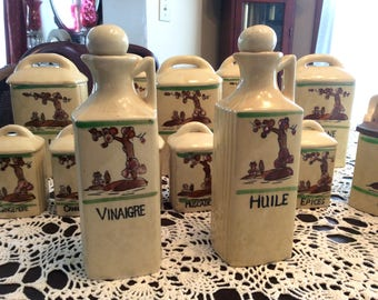 French Vintage Oil and Vinegar set